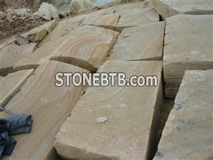 Yellow wood sandstone blocks