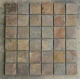 Rusty Yellow Slate Mosaic Tiles