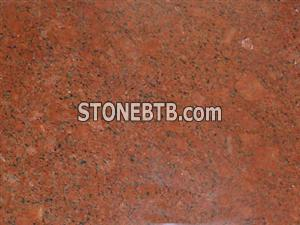 Polished Dyed Red Granite Tile and Slab