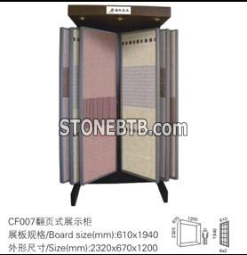 Page Turning Type Rack Stone Display Rack Display Rack Exhibition Stands