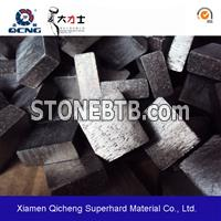 Diamond segment for marble saw blade