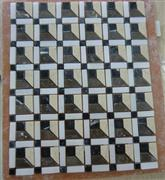 mixed marble mosaic on mesh