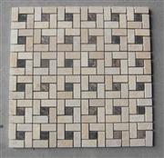 beige marble mixed coffee color mosaic
