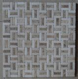 natural stone mosaic tile, white marble and light emperador marble