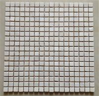 travertine mosaic tile, white marble and light emperador marble