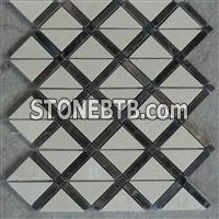 mosaic tile, mixed colors