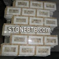 beige marble mosaic tile, marble pattern, mixed mosaic