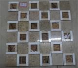 beige marble mosaic tile, mosaic pattern, mixed mosaic