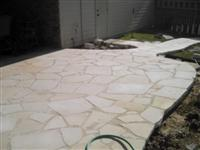 Diamond Sawed Patio