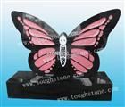 GRANITE HEADSTONE WITH BUTTERFLY DESIGN