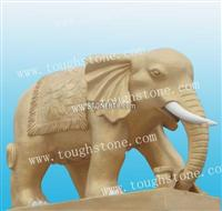 GRANITE ELEPHANT STATUE/STONE ANIMAL