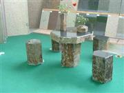 natural stone benches