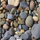 Unpolished White Strip Mix Color Pebbles
