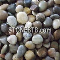 Natural Garden Yellow Strip Mixed Color Polished Pebbles
