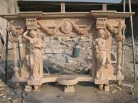 Pillar Fireplace