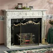 White Home Fireplace