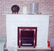 White Carved Fireplace