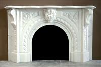 White Marble Statue Fireplace