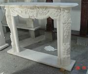 Carrara White Fireplace