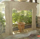 Outdoor Marble Fireplace