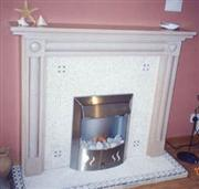 Decorative Granite Fireplace
