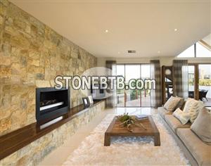 Yellow limestone wall stone