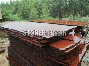 G657 Dyed Red Stone