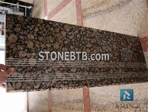 Baltic brown granite staircase