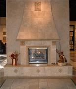 Fireplace in Travertine Antique