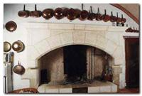 Traditionnal Quercynoise farmhouse fireplace