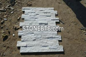 Natural white quartzite external stone wall cladding
