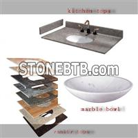 marble and granite Vanities, Bath Tops