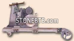 Machine for cutting marble