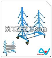 DISPLAY SHOW ROOM RACK frame for stone, stone storage a frame, truck aframe, stone rack, stone tool machine,granite, marble, move, transport
