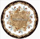 Marble Water Jet Round Tile Medallion Floor Pattern