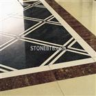 Marble Water Jet square Tile Medallion Floor Pattern