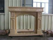 Granite and Marble Fireplace