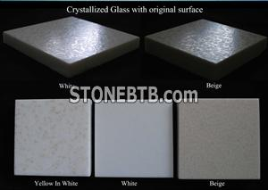 crystallized glass with original surface