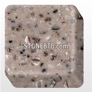 Free Bending Solid Surface Faux Stone Panel BA-PM8034