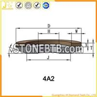 4A2 Diamond And CBN Dish Grinding Wheel