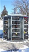 96 niches G603 with shanxi balck granite columbarium