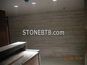 White Cultured Stone-Hotel Wall
