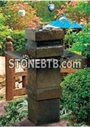 Cubist Outdoor Garden Water Fountain