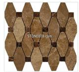 OCTAVE PATTERN LIGHT EMPERADOR WITH DARK EMPERADOR DOT MARBLE TILE