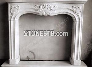 Fireplace with leaves decoration
