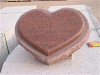 Polished heart style monument