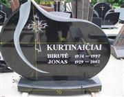 Simple style absolute black granite monument