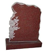 Red granite memorial monument