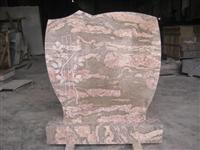 Europe style red granite monument