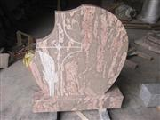 Chinese red granite tombstone